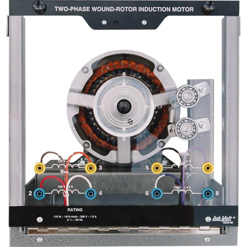 Labvolt series by festo didactic two phase wound rotor for 2 phase induction motor