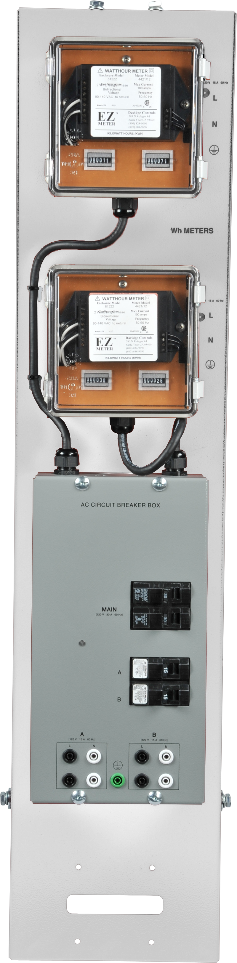 Labvolt Series By Festo Didactic Kwh Meters With Ac Circuit Breaker Box Ul Csa Certified